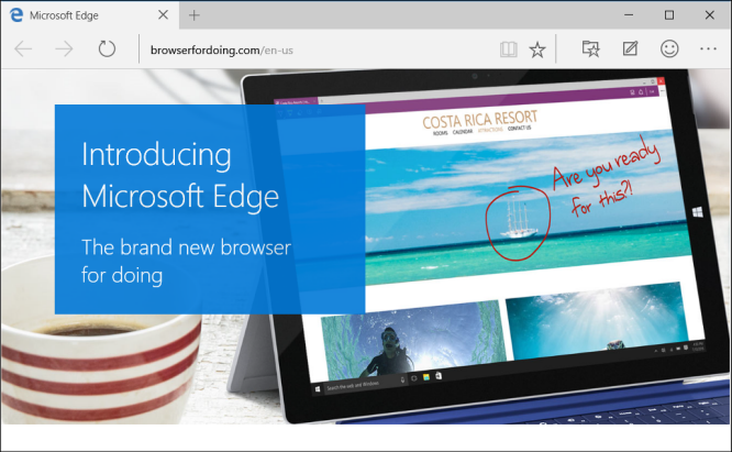 "Microsoft's new web browser, codenamed: Project Spartan now has an official name ""Microsoft Edge"" and yes, Internet Explorer is still included, mainly for enterprise customers."