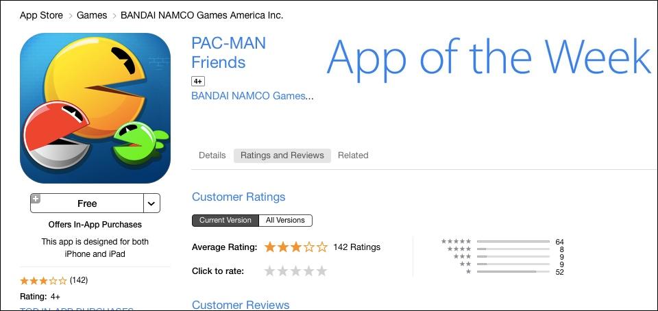 Pac-Man Friends - App of the Week