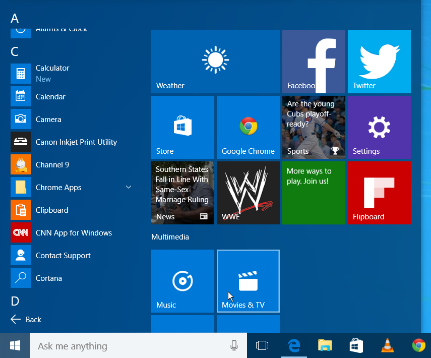 Technology Management Image: Windows 10 For PCs Build 10158 Visual Tour Of New Features