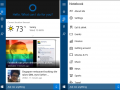 Cortana is in its final stage. It has a new dark theme and now integrates with Office 365.
