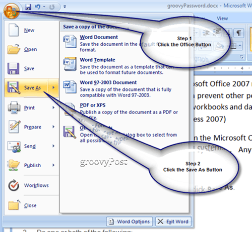 How-To Password Protect Microsoft Office 2007 Documents