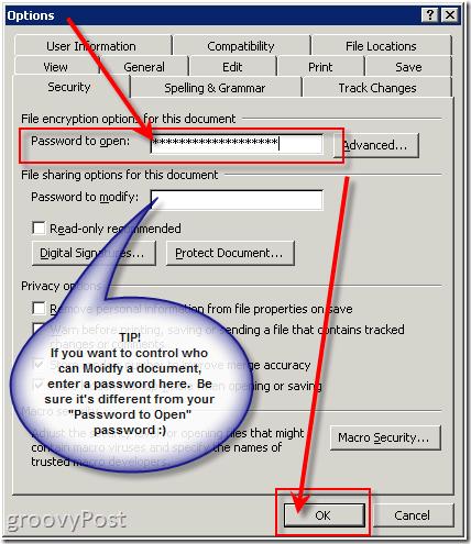 Encrypt Office 2003 Documents
