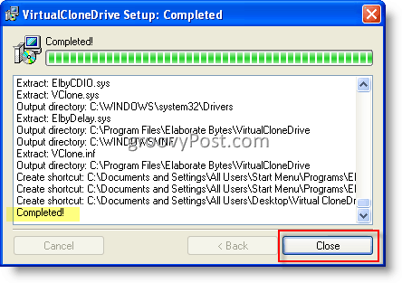 Mount ISO Image using VirtualClone Drive