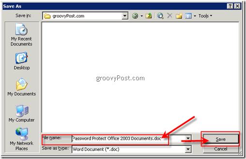 Encrypt Microsoft Office 2003 Documents