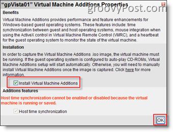 Install Virtual Machine Additions for MS Virtual Server 2005 R2