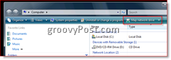 Map a network drive in Windows 7, Vista and Server 2008 from Windows Explorer