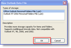 Create New Outlook Data File :: groovyPost.com