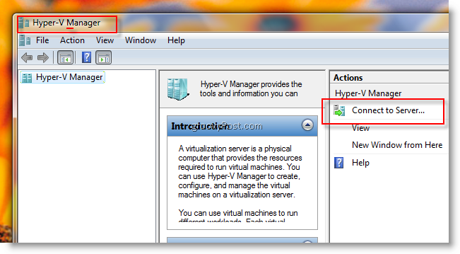 How-To Remotely Manage a Microsoft Hyper-V Server from