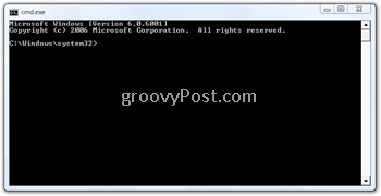 Windows Command Prompt Window
