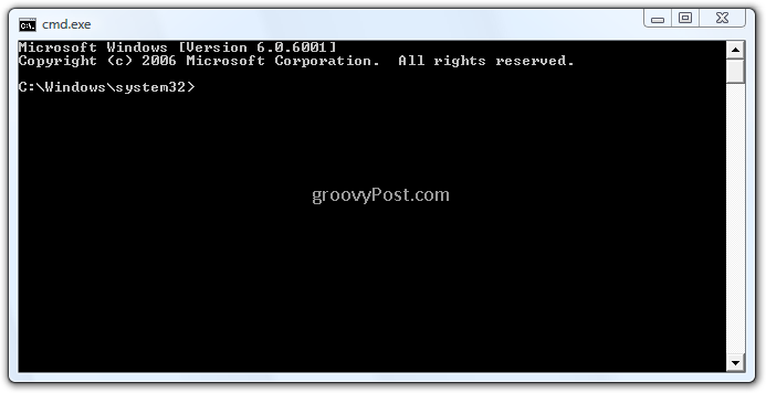 how to open widows command prompt