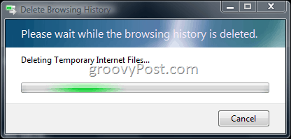 Create a Batch File to Delete IE7 Browser History and Temp Files