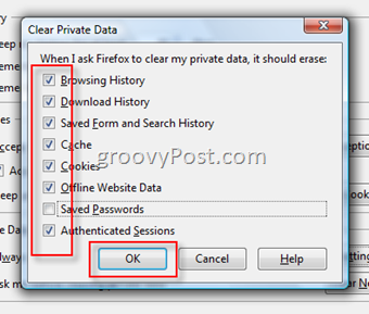 Configure Firefox to Clear Browsing History when you close Firefox