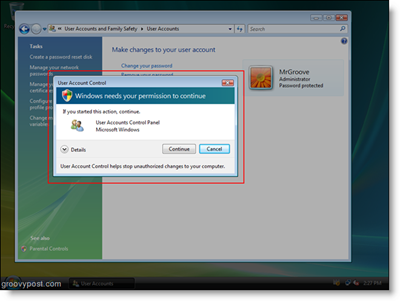 Windows Vista UAC Prompt for Access