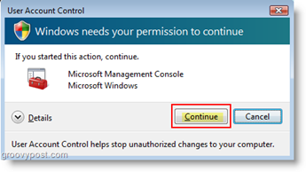 Set User account Behavior for User Account Control (UAC) Windows Vista