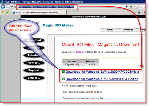 Mount an ISO Image for Microsoft Windows Server 2008
