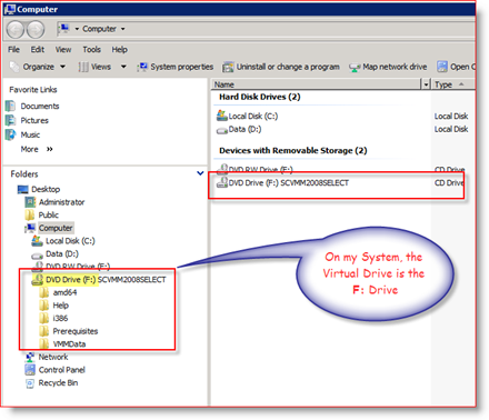MagicISO Virtual Drive ISO Mount example on Windows Server 2008