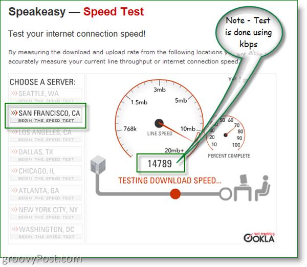 Speakeasy Speed Test - San Francisco, CA