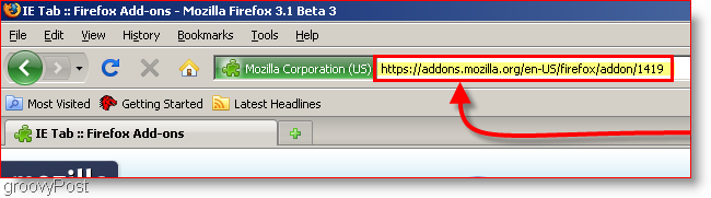 Browse to the IE tab URL
