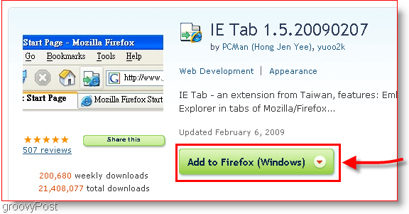 Download IE Tab for Firefox