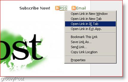 Open Links in an Internet Explorer Tab