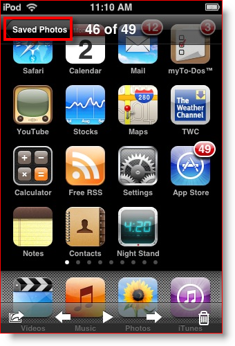 ipod touch and iphone screenshot