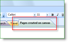 Canvas for OneNote Tab preview inside OneNote