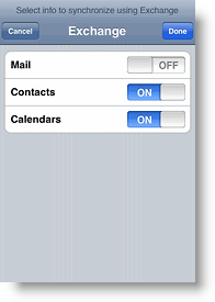 Apple iPhone and iPod Touch Disable Mail Sync with ActiveSync Exchange