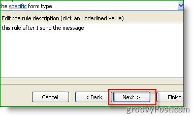 Create new Outlook Rule and Alert