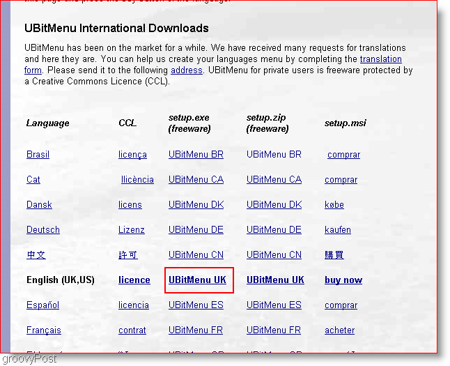 UBitMenu Download Page