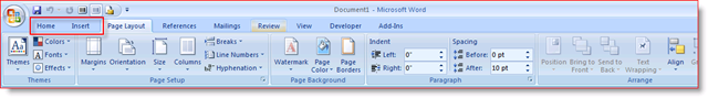 Office 2007 Toolbar before UBitMenu