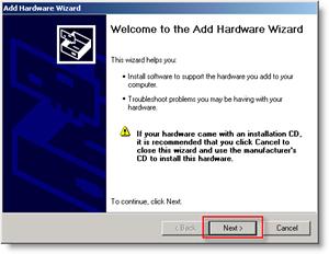 Windows Add Hardware Menu