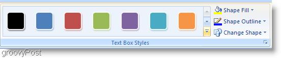 Microsoft Word 2007 Change Shape Format