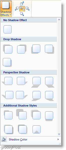 Microsoft Word 2007 Shadow Effects