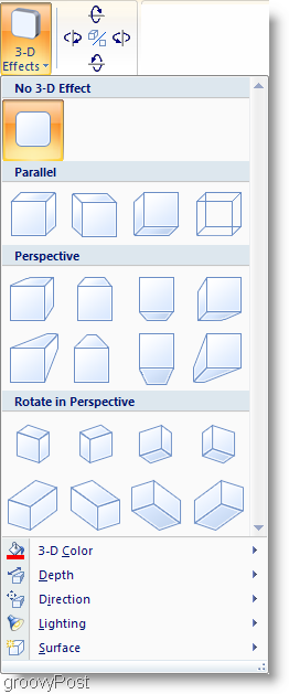 Microsoft Word 2007 Shade Effects