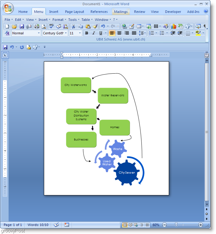 Microsoft Word 2007 Flowchart example