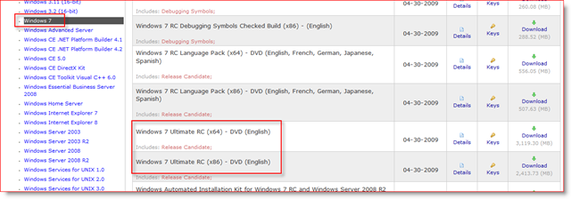 Windows 7 RC1 available on MSDN and Technet