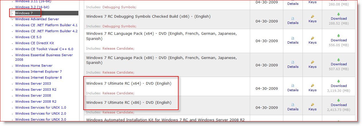 Windows 7 Release Candidate (RC1) Available for Download
