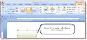 Microsoft Word 2007 Format Tab