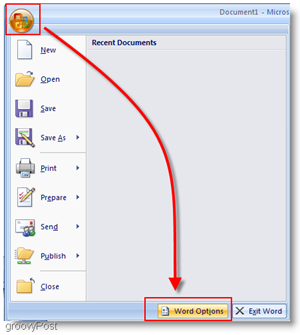 Microsoft Word 2007 Word Options