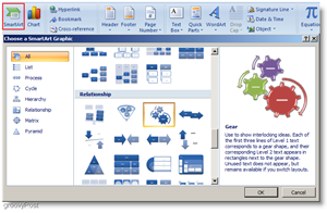 Microsoft Word 2007 Insert Smartart