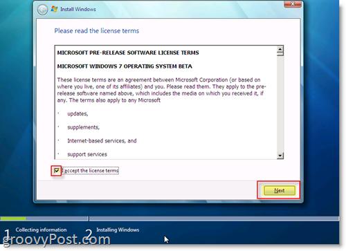 Windows 7 License Terms Signature