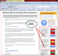 So-called discount for Quicken for existing MS Money customers