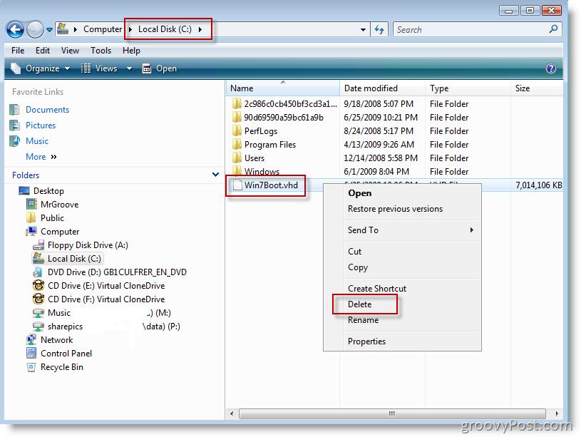 how to delete driver file windows vista
