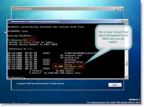 Windows 7 Native VHD Install Dual Boot