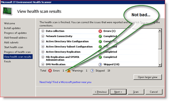 Microsoft IT Environment Health Scanner