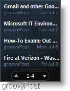 the windows 7 feed reader in small mode