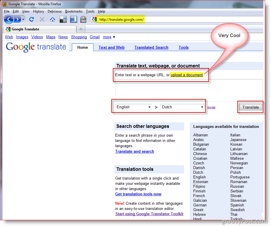 How to translate documents or websites with google translator for Translate word documents google