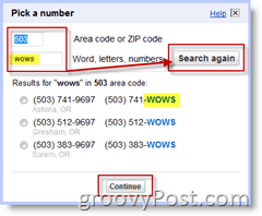 Google Voice Number Change Search