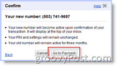 Google Voice Number Change Purchase