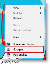 Open Windows 7 Gadgets